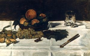 MANET: FRUIT, 1864. Edouard Manet: Fruit on a Table. Oil on canvas, 1864.