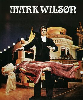 MARK WILSON: POSTER, 1975. American poster of magician Mark Wilson's levitation