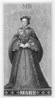MARY I (1516-1558). Queen of England and Ireland. Etching, English, 1882
