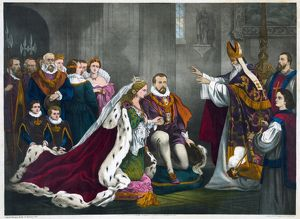 MARY, QUEEN OF SCOTS. Wedding of Mary, Queen of Scots, and Henry Stuart, Lord Darnley