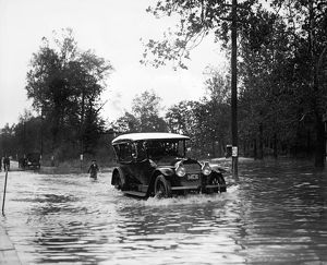 MARYLAND: FLOOD, 1921. A flooded street in Bladensburg, Maryland
