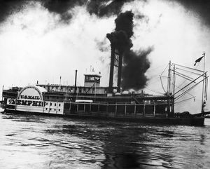 MISSISSIPPI STEAMBOAT, c1900. The steamboat 'City of Memphis' photographed on the
