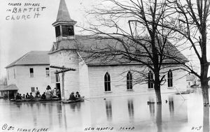MISSOURI: FLOOD, c1912. Black refugees in a Baptist church in New Madrid, Missouri
