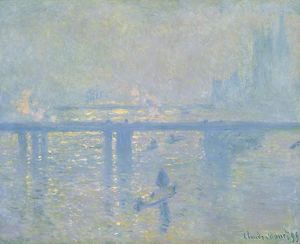 MONET: BRIDGE, 1899. 'Charing Cross Bridge.' Oil on canvas, Claude Monet, 1899