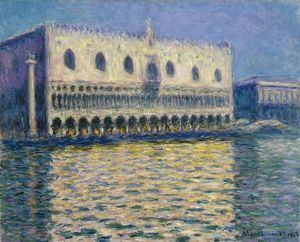 MONET: THE DOGES PALACE. Oil on canvas, Claude Monet, 1908