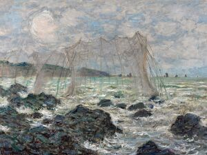MONET: FISHING NETS, 1882. 'Fishing Nets at Pourville
