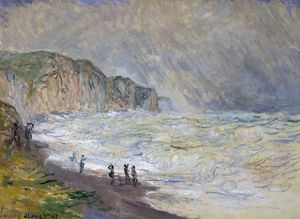 MONET: HEAVY SEA, 1897. 'Heavy Sea at Pourville.' Oil on canvas, Cladue Monet