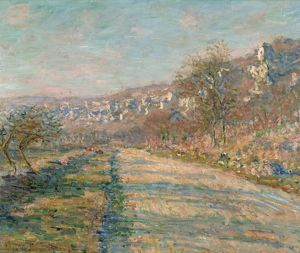 MONET: LA ROCHE-GUYON, 1880. 'Road of La Roche-Guyon.' Oil on canvas, Claude Monet