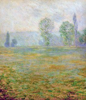 MONET: MEADOWS AT GIVERNY. Meadows at Giverny. Oil on canvas by Claude Monet, 1888.