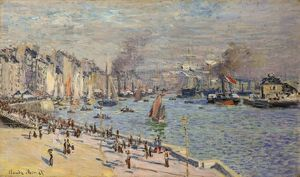MONET: PORT OF LE HAVRE. Oil on canvas, Claude Monet, 1873