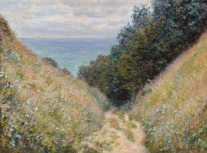MONET: POURVILLE, 1882. 'Road at La Cavee, Pourville.' Oil on canvas, Claude Monet