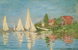 MONET: REGATTAS, C1872. 'Regates a Argenteuil.' Oil on canvas, Claude Monet, c1872