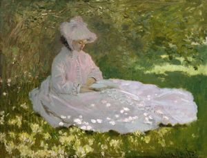 MONET: SPRINGTIME, 1872. Oil on canvas, Claude Monet, 1872