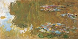 MONET: THE WATER LILY POND. Oil on canvas, Claude Monet, c1918