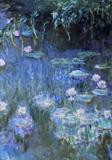 MONET: WATERLILIES. Claude Monet: Waterlilies. Oil on canvas.