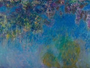 MONET: WISTERIA, C1925. Oil on canvas, Claude Monet, c1925