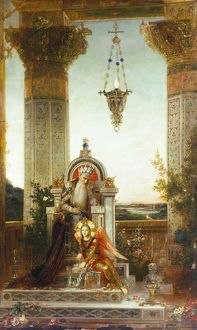 MOREAU: KING DAVID. 'King David Meditating.' Oil on canvas by Gustave Moreau