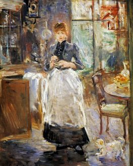 MORISOT: DINING ROOM, 1886. In the Dining Room. Canvas by Berthe Morisot.