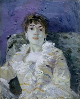 MORISOT: GREEN SOFA, c1885. Oil on canvas by Berthe Morisot.