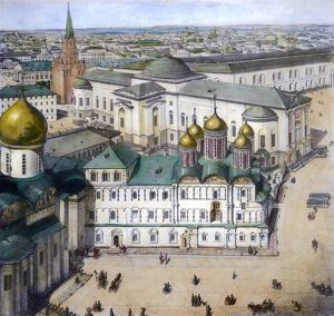 MOSCOW, c1845. View of Moscow, Russia, c1845