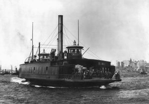 NEW YORK FERRY, c1898. The ferry steamboat 'Brooklyn,' crossing the East River