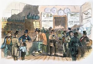 New Yorkers, predominantly Irish immigrants, casting their ballots in the 1858 elections