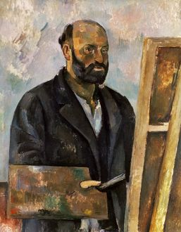 PAUL CEZANNE (1839-1906). French painter. Self-portrait. Oil on canvas, 1885-1887.