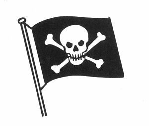 PIRATES: JOLLY ROGER FLAG.