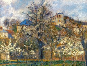 PISSARRO: GARDEN, 1877. Camille Pissarro: Kitchen- Garden and Trees in Blossom, Pontoise