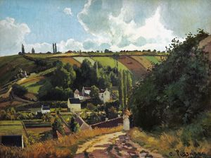 PISSARRO: JALLAIS, 1867. Jallais Hill, Pontoise. Oil on canvas by Camille Pissarro, 1867.