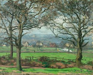 PISSARRO: SYDENHAM HILL. 'Near Sydenham Hill.' Oil on canvas, Camille Pissarro