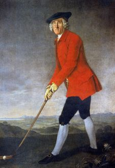 Portrait of William St. Clair of Roslin. Oil, 1771