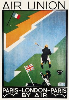 Poster advertising Air Union's Paris to London route, 1923