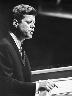President John F. Kennedy addressing the United Nations General Assembly in New York