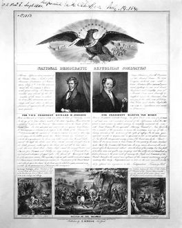 PRESIDENTIAL CAMPAIGN 1840. National Democratic Republican nomination: lithograph, 1840.