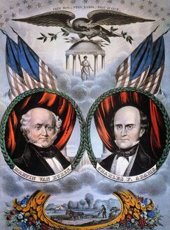 PRESIDENTIAL CAMPAIGN, 1848. Martin Van Buren and Charles Francis Adams as Free Soil