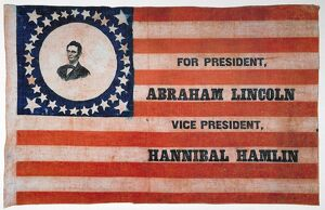 PRESIDENTIAL CAMPAIGN, 1860. Abraham Lincoln as the Republican party candidate for President