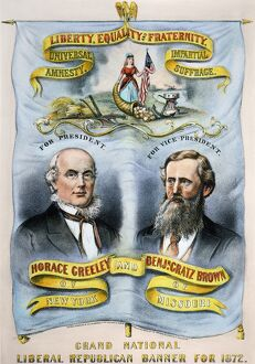PRESIDENTIAL CAMPAIGN, 1872. Horace Greeley and Benjamin Gratz Brown as Liberal Republican
