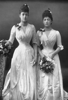 PRINCESSES OF WALES, c1890. Princess Victoria and Princess Maud of Wales, the future