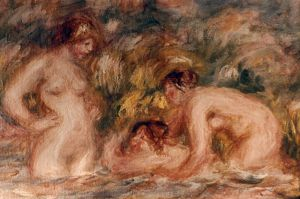 RENOIR: BATHERS, c1918-19. Pierre Auguste Renoir: Les Baigneuses (detail). Oil on canvas