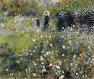 RENOIR: GARDEN, 1875. 'Woman with a Parasol in a Garden