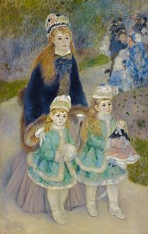 RENOIR: LA PROMENADE, C1875. 'Mother and Children (La Promenade).' Oil on canvas