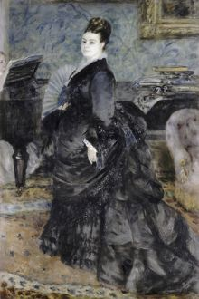 RENOIR: PORTRAIT, 1874. 'Portrait of a Woman, called Mme Georges Hartmann
