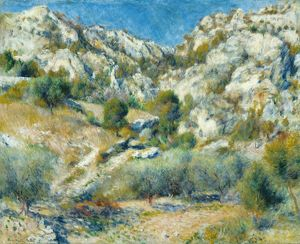 RENOIR: ROCKY CRAGS, 1882. 'Rocky Crags at L'Estaque.' Oil on canvas