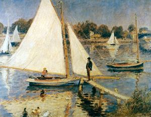 RENOIR: SAILBOATS, 1873-74. Pierre Auguste Renoir: Sailboats in Argenteuil. Oil on canvas