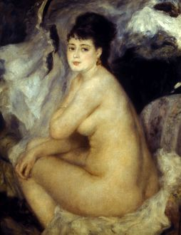 RENOIR: SEATED NUDE, 1876. Oil on canvas.