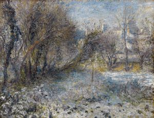 RENOIR: SNOW, C1870. 'Snow Covered Landscape