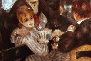 RENOIR:MOULIN DE LA GALETTE (detail). Oil on canvas.