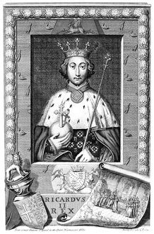 RICHARD II (1367-1400). King of England 1377-99. Engraving after George Vertue