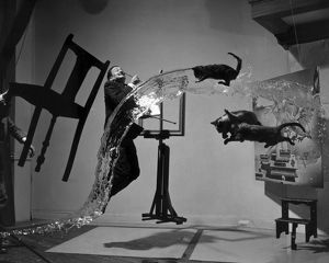 SALVADOR DALI (1904-1989). Spanish painter. Photographed with objects, including cats